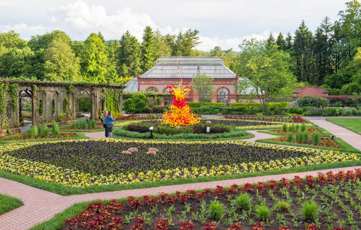 Chihuly at Biltmore Walled Garden