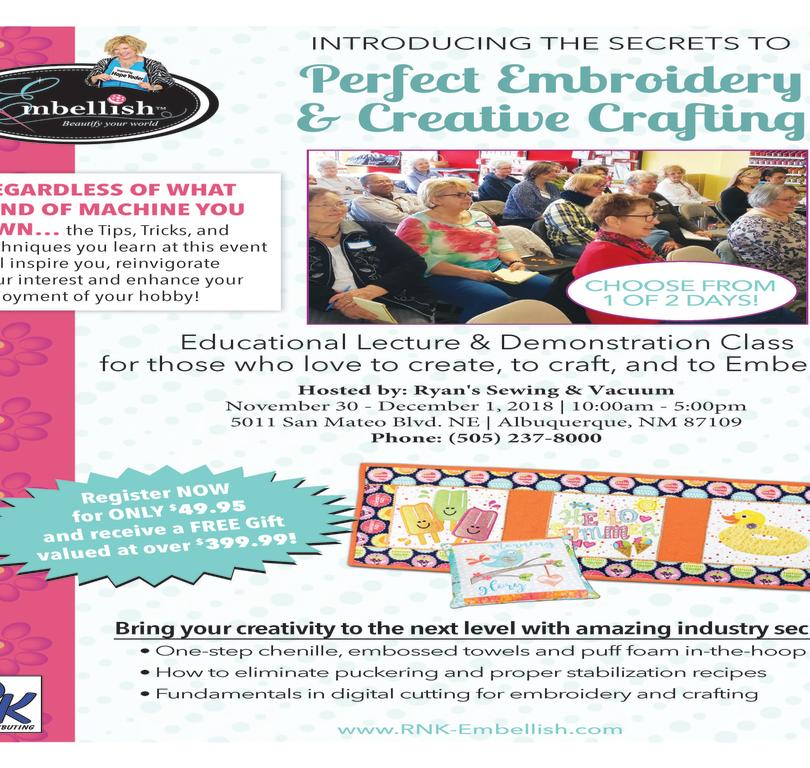 Perfect Embroidery Creative Crafting Workshop