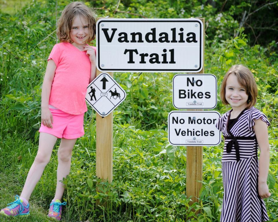 Girls at Sign