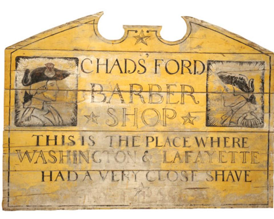 NC Wyeth Barbershop Sign