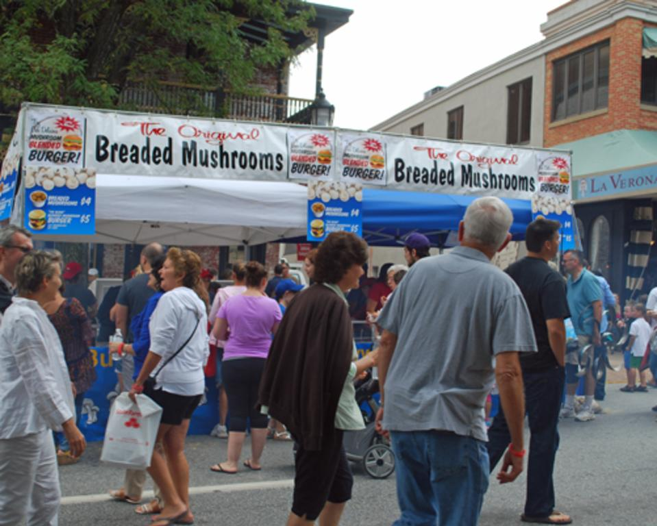 Over 200 Street Vendors are at the Mushroom Festival
