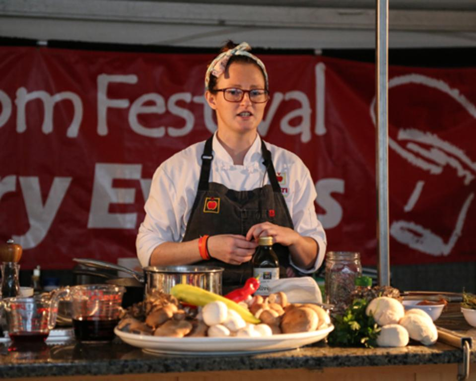 Guest chefs share tips and recipes in the Culinary Tent