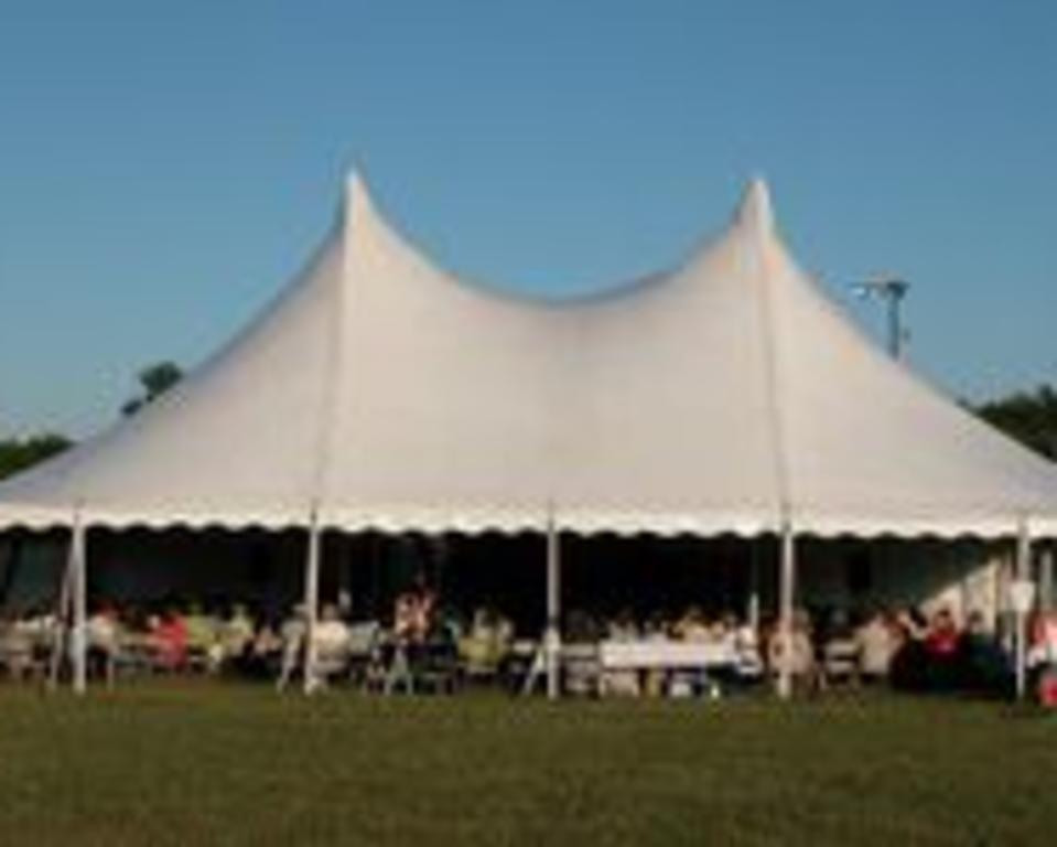 tent with people