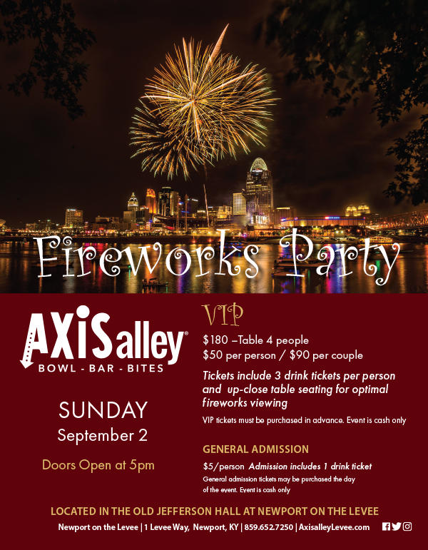 Axis Alley Fireworks Party