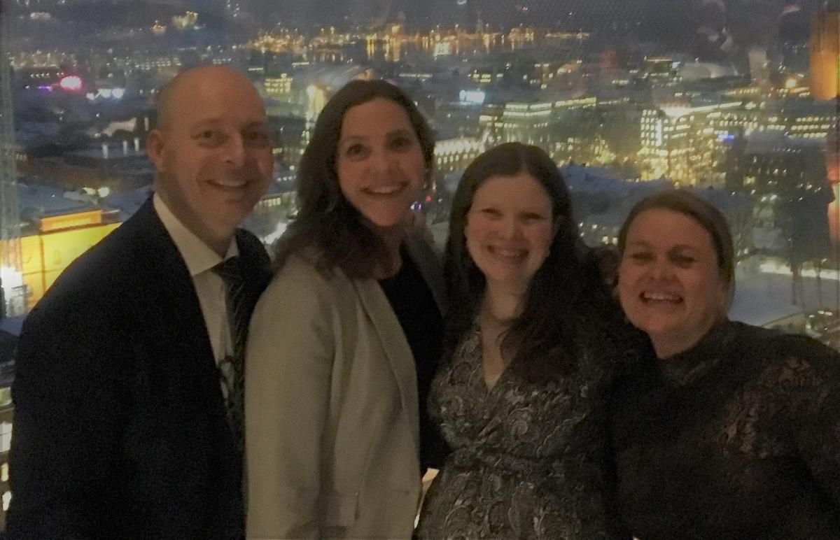 Denne kvartetten i Innovasjon Norge gleder seg til å satse på MICE i Nederland og Belgia. F.v. Frode Aasheim (spesialrådgiver kongress), Hanne Maren Kristensen, Birgitte Nestande (rådgiver arrangement) og Elisabeth Bugge (seniorrådgiver kongress).