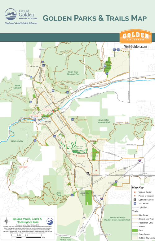 Golden Parks & Trails Map