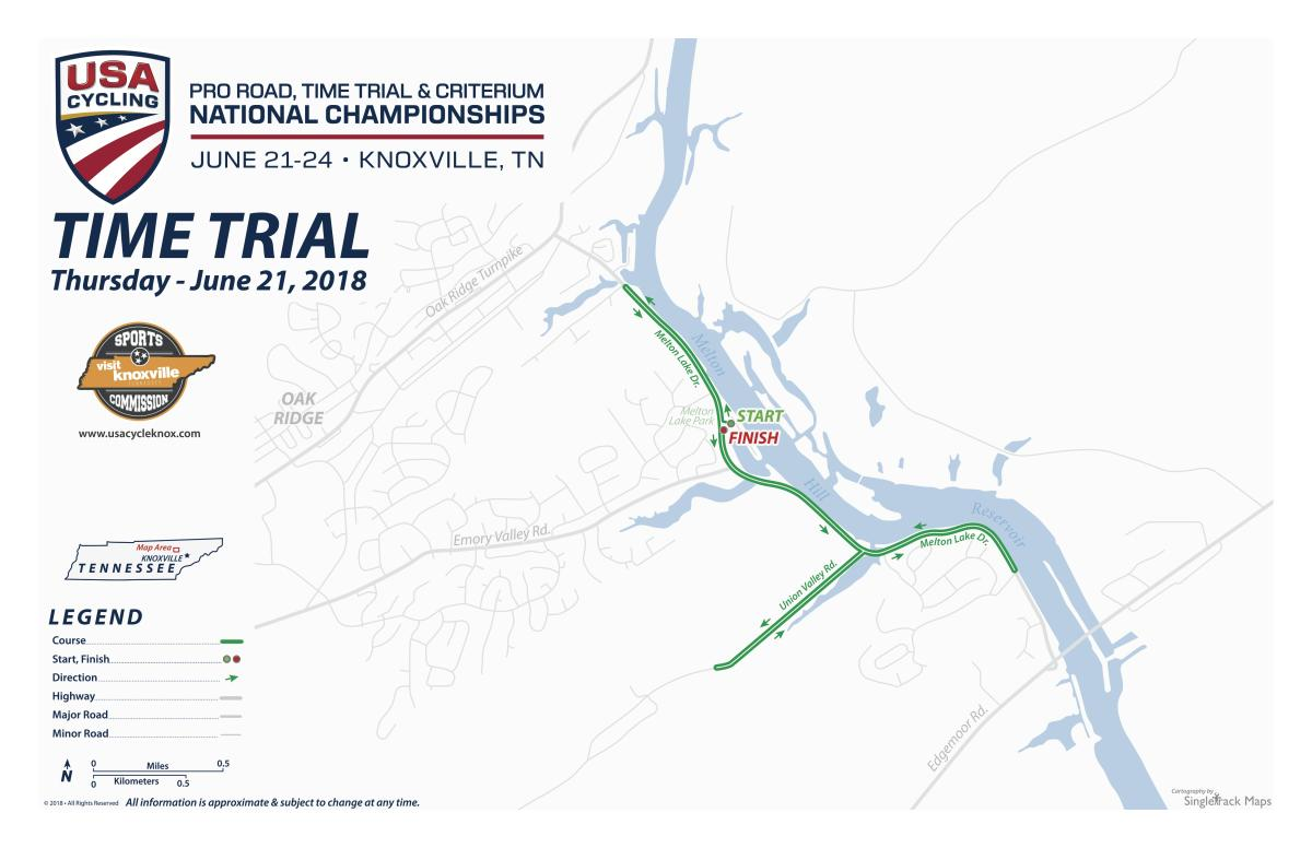 USA Cycling Time Trial Map