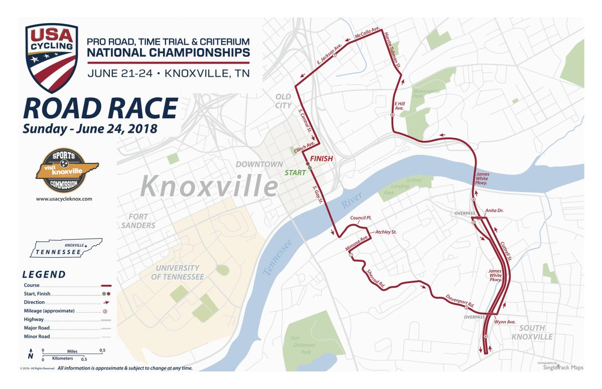 USA Cycling Road Race Map