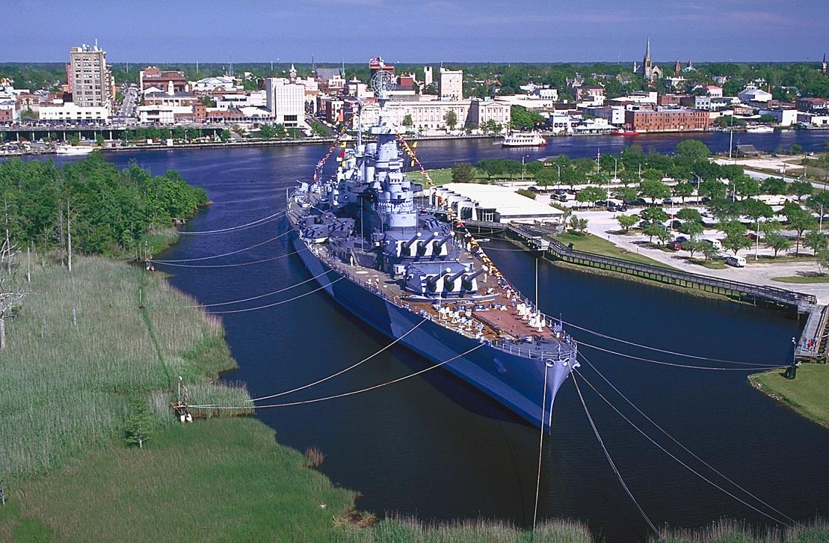 Battleship NORTH CAROLINA in downtown Wilmington