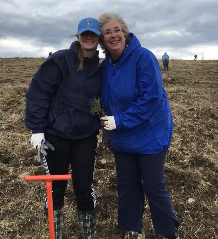 Ann and Hannah Plant a Tree 93 2018