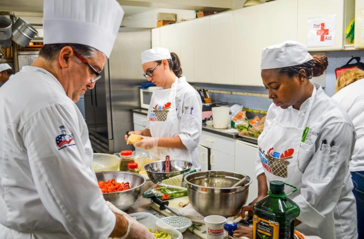 Freedom from Hunger MCCC Students Cooking