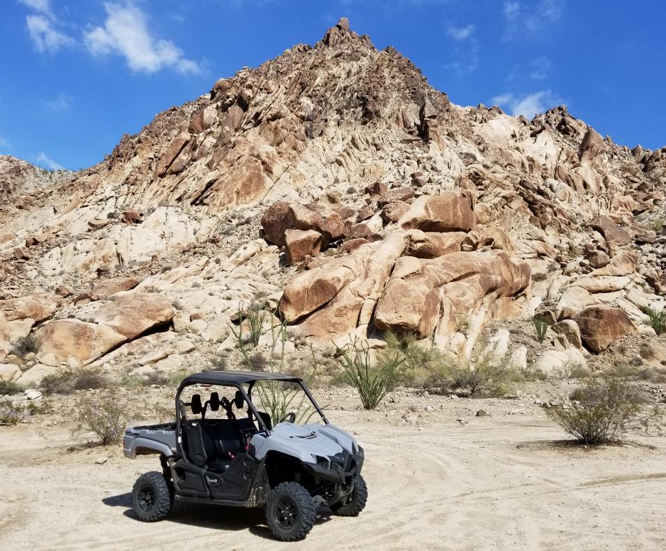 California Blue Sky and a Desert Ride