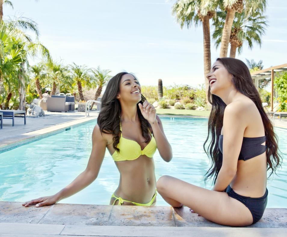 Two Women in Pool