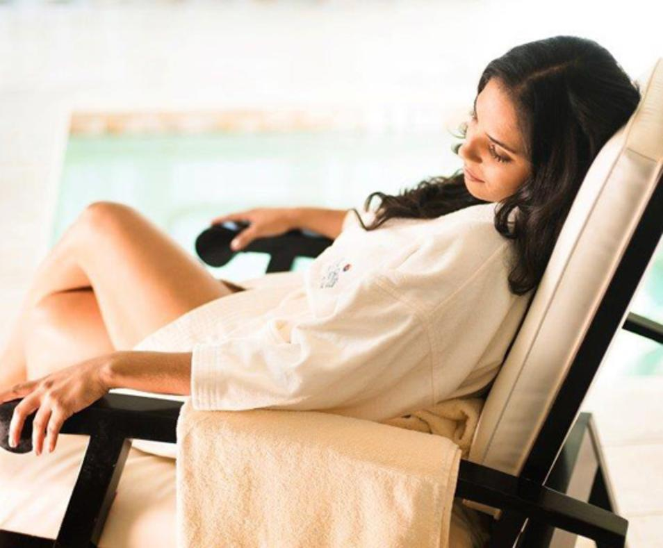 Relaxing at Sunstone Spa