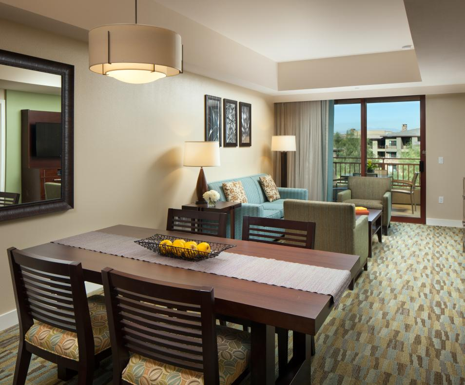 The Westin Desert Willow Villas Dining and Living Area