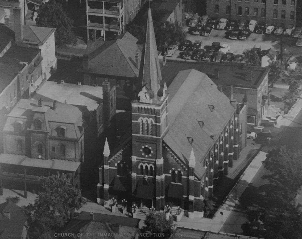 Church of the Immaculate Conception with Clock Tower courtesy of Knoxville History Project