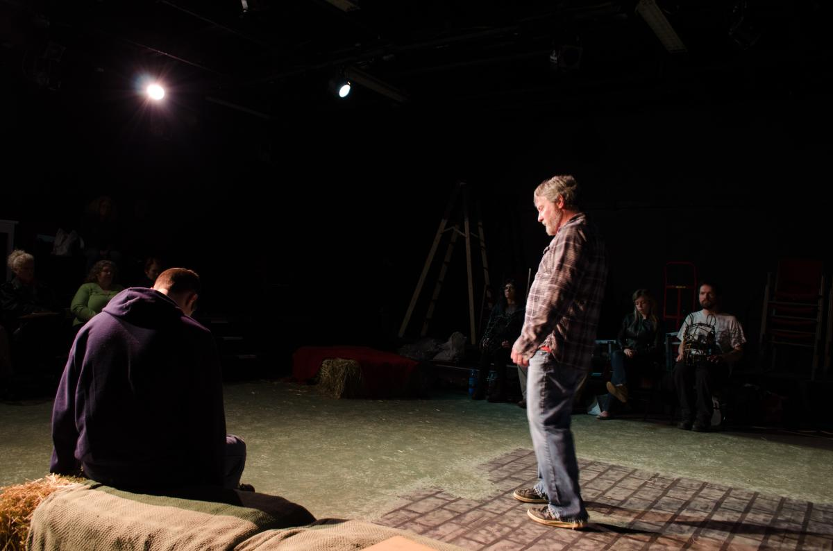 A scene from Equus at the Forge Theater