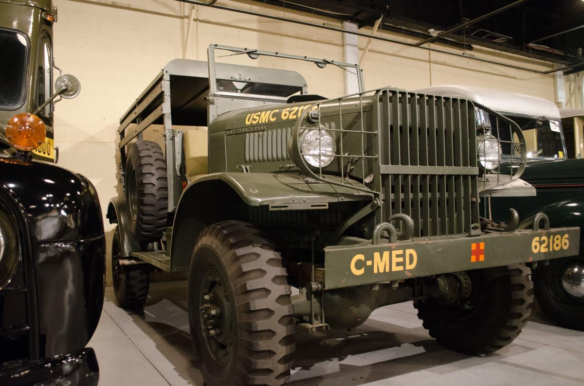 Many of the vehicles in the Museum's collection, like this World-War 2 era truck, were built locally. But most of the museum's visitors travel from out-of-state.