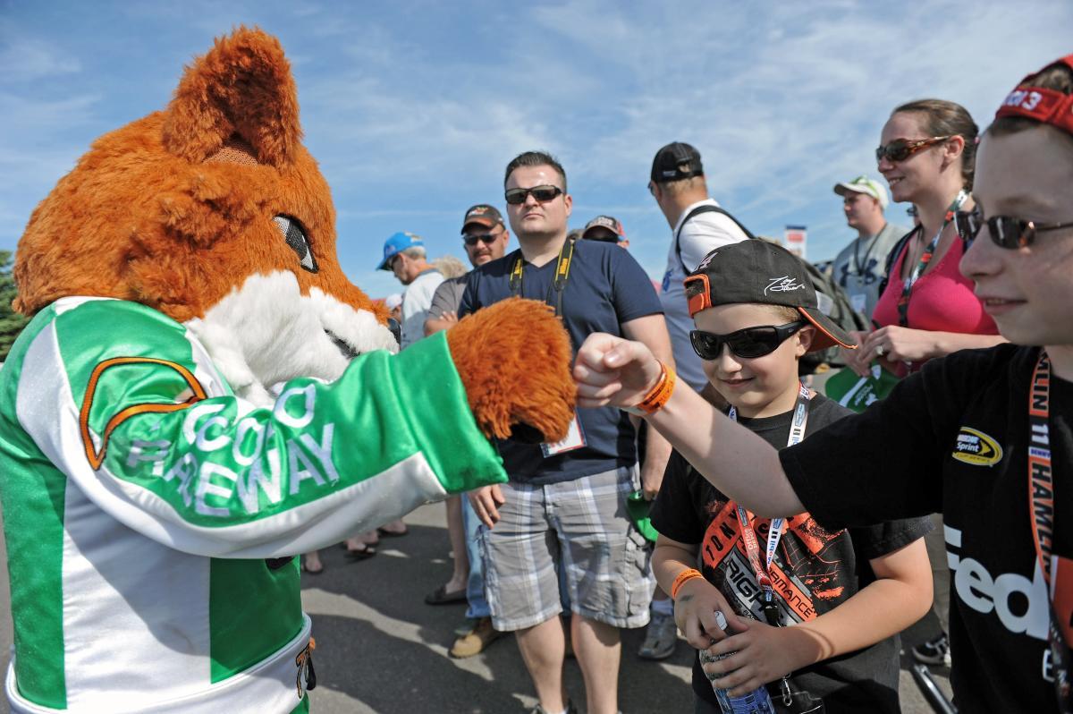 Fans at Pocono Raceway
