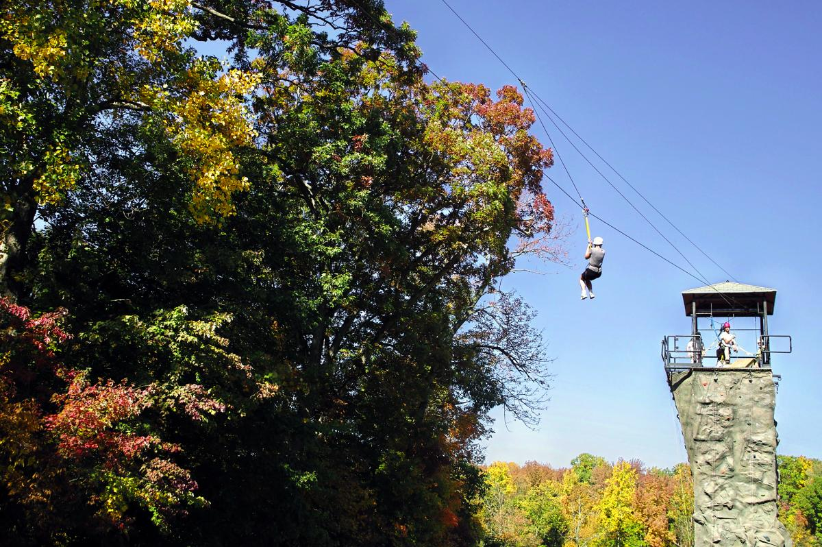 Spring Mountain Ziplining in Fall