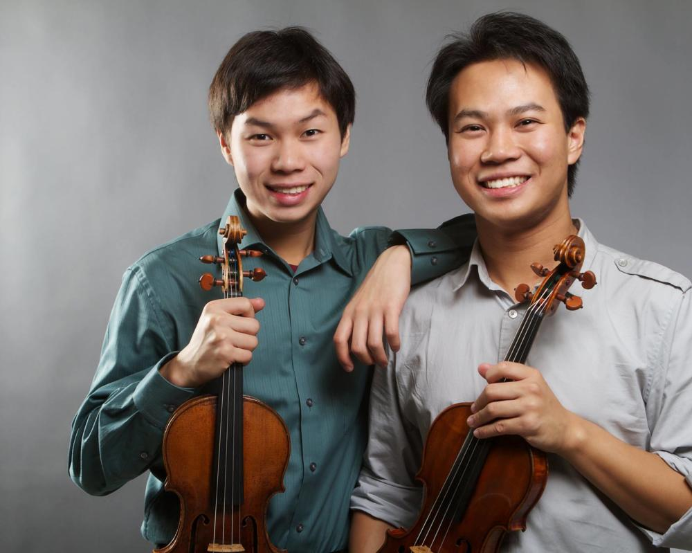 Violinists Nikki and Timothy Chooi