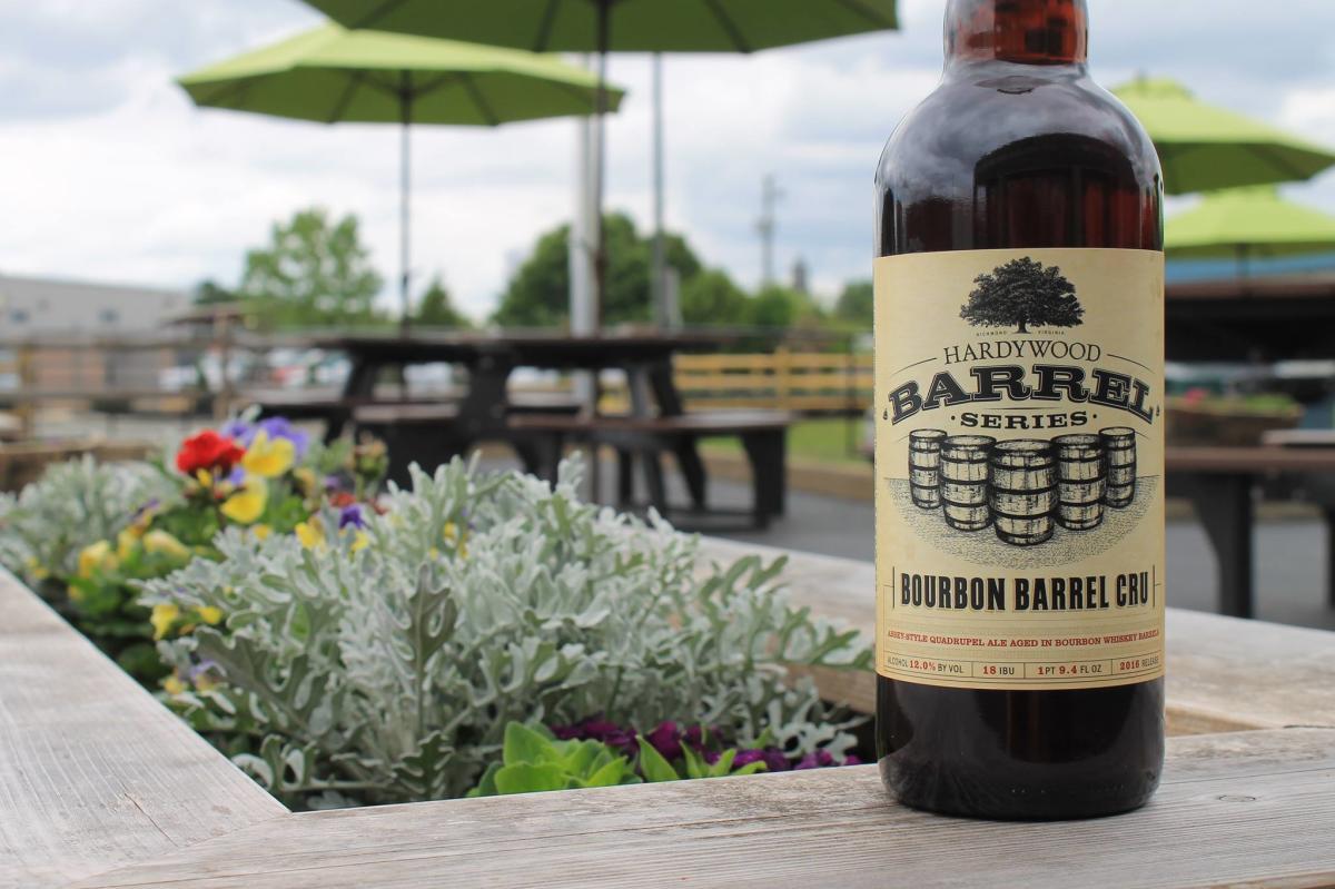 Hardywood bourbon barrel beer
