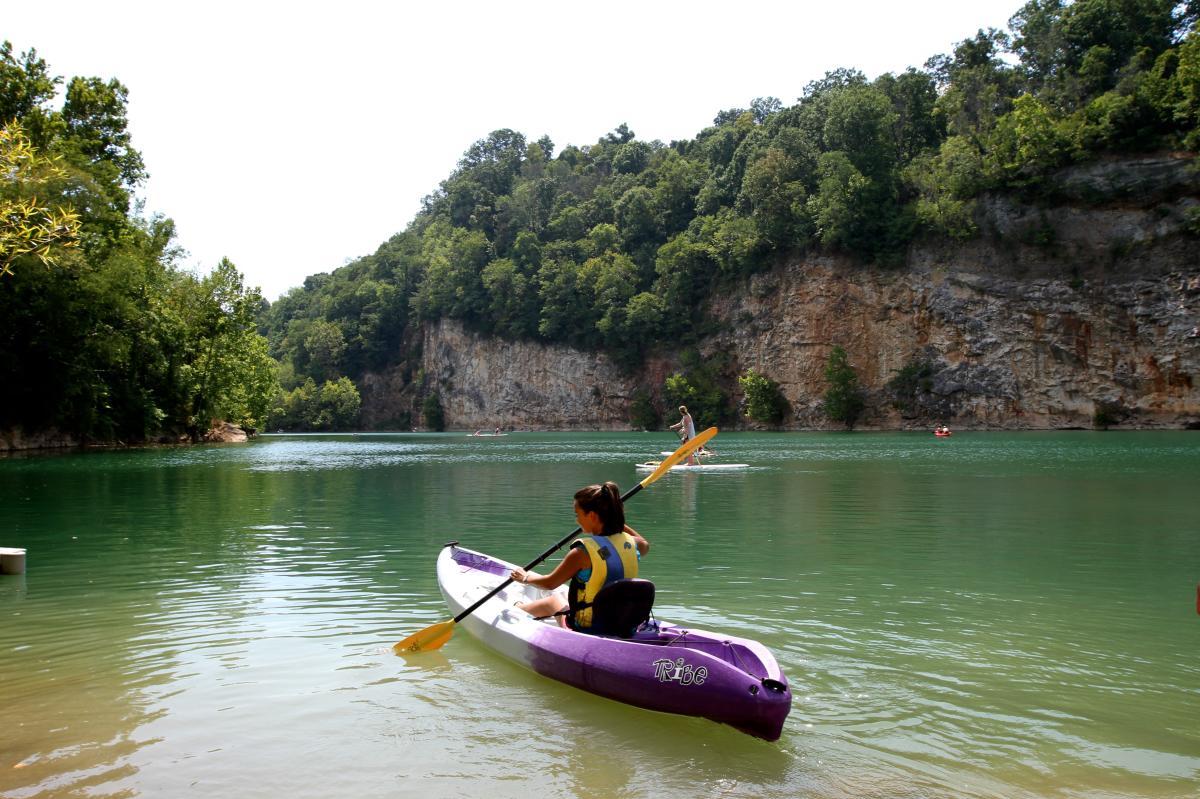 Kayaking in Ijams Quarry