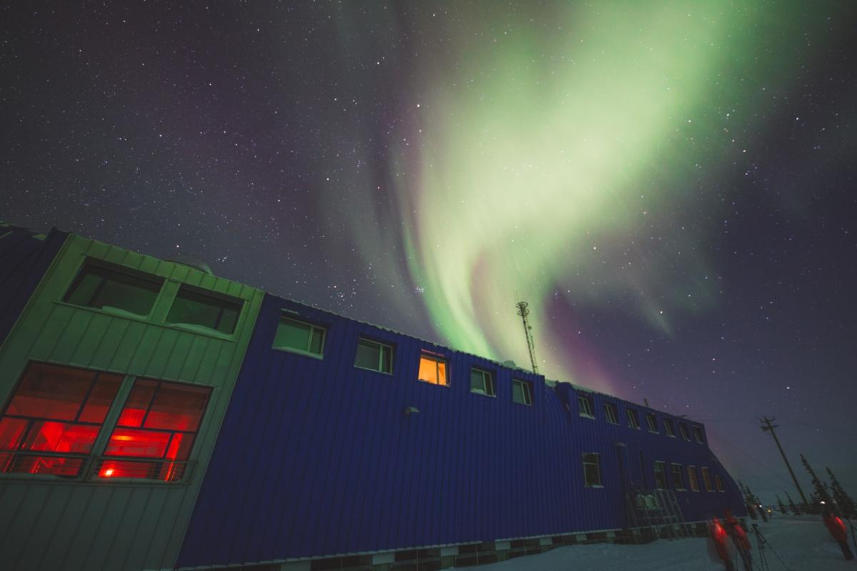 Northern lights at the Churchill Northern Studies Centre