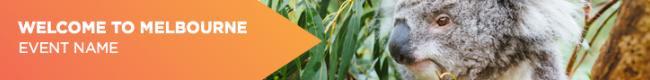 Leaderboard Banner Orange - Welcome to Melbourne