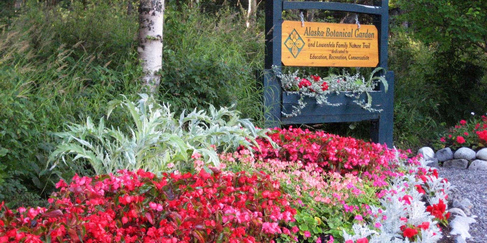 entrance - Alaska Botanical Garden