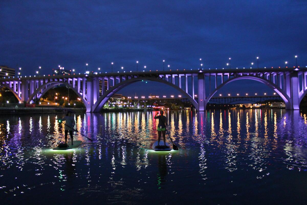 Paddleboarding at Night