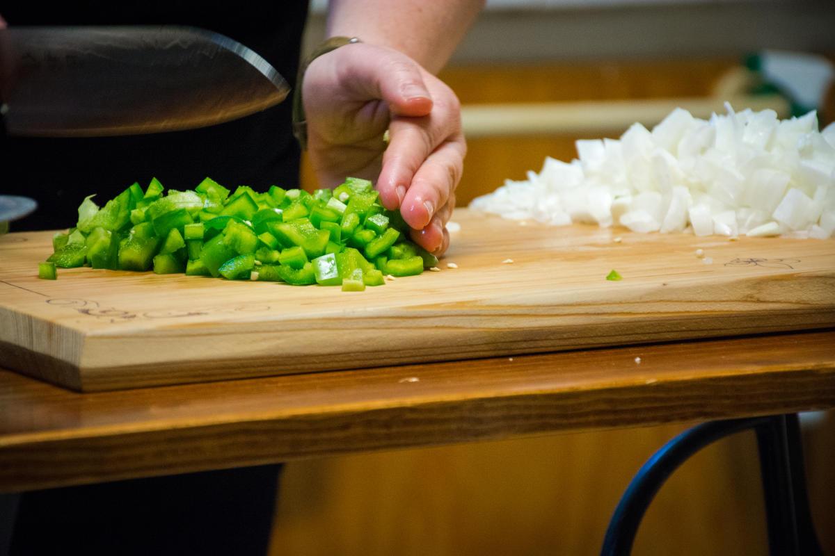 Chopping Vegetables for Gumbo