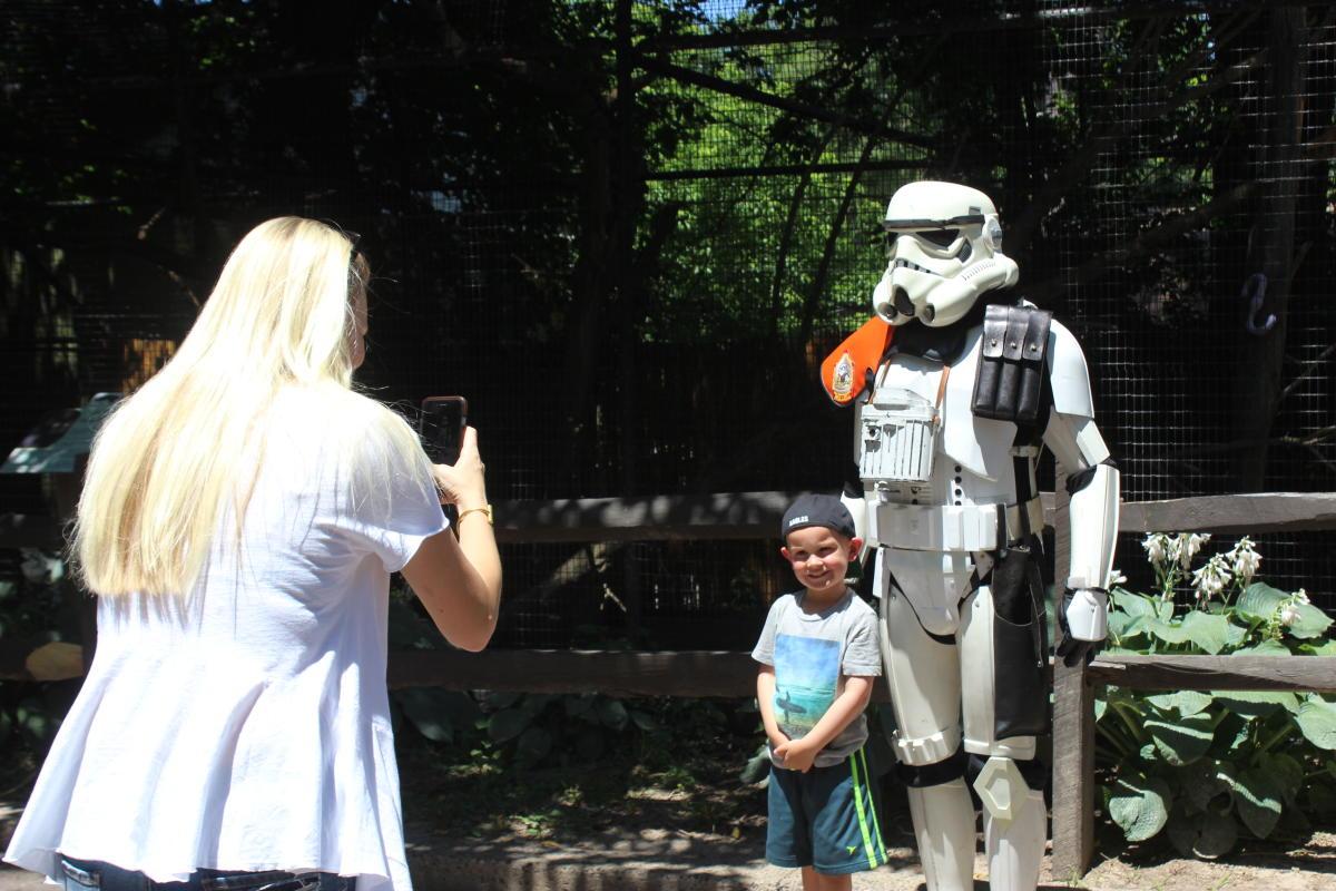 A Storm Trooper at Elmwood Park Zoo