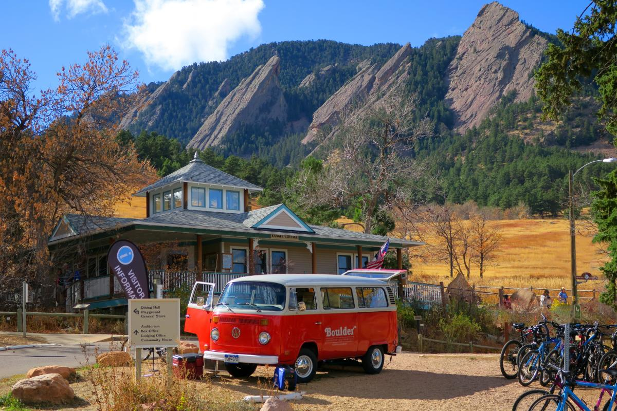VW Visitor Bus at the Flatirons