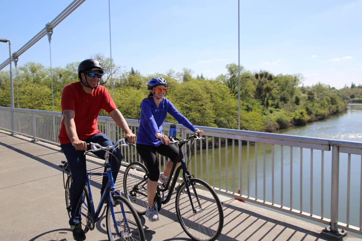 American River Bike Trail Guy West Bridge