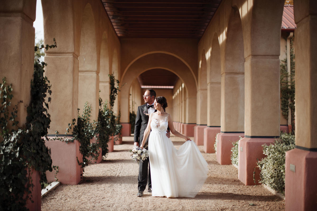 Gracious and historic, La Mesita Ranch delighted Eric Garduno and Geraldine Gonzales, along with their wedding party.