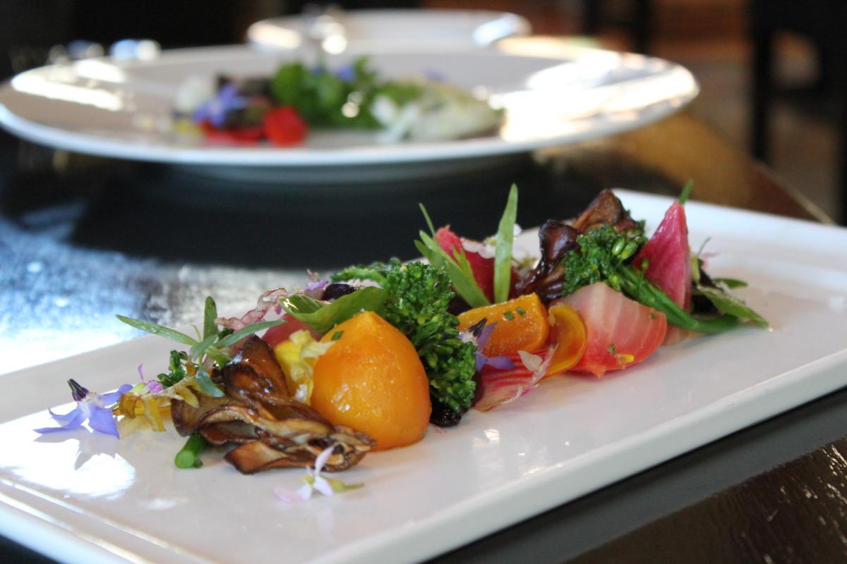 Copperleaf Restaurant closeup of salad