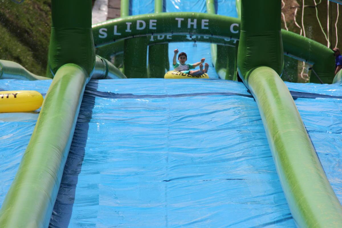 Super Water Slide at Roundtop Mountain Resort