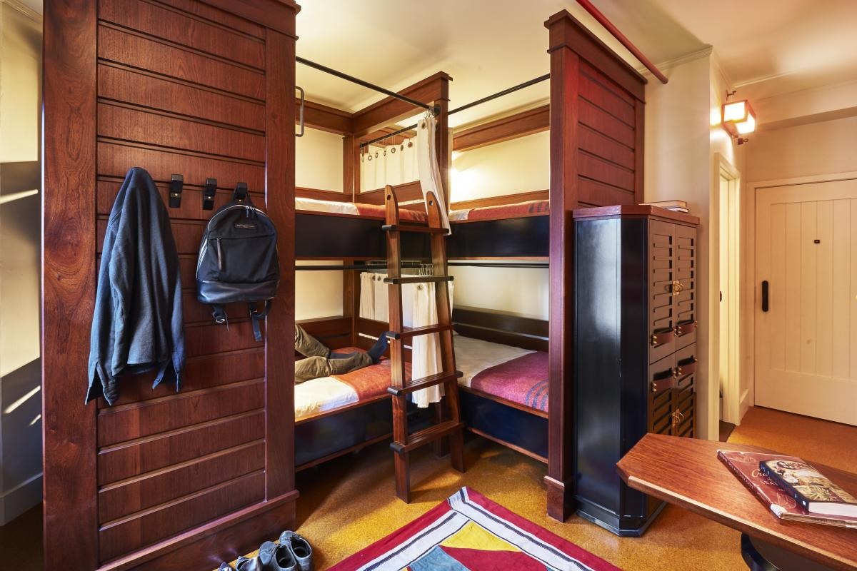 Bunk beds at Freehand Chicago