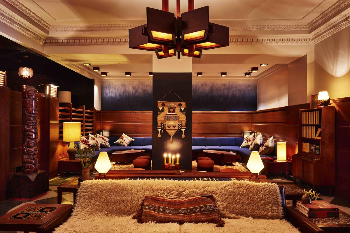 Lobby at Freehand Hotel Chicago