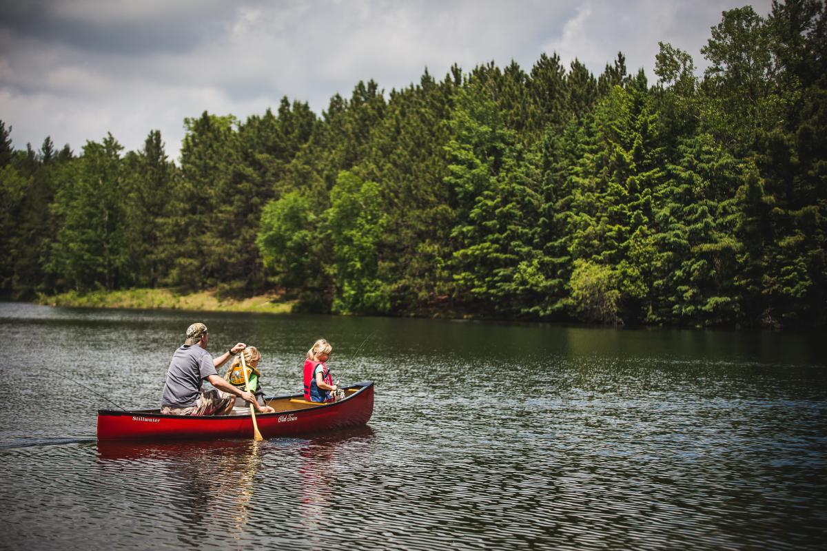 Canoeing on Lake Joanis
