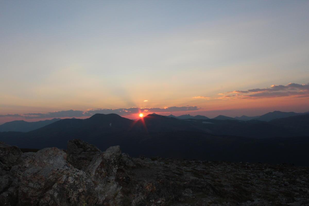 Sunset at Alpine Ridge Trail