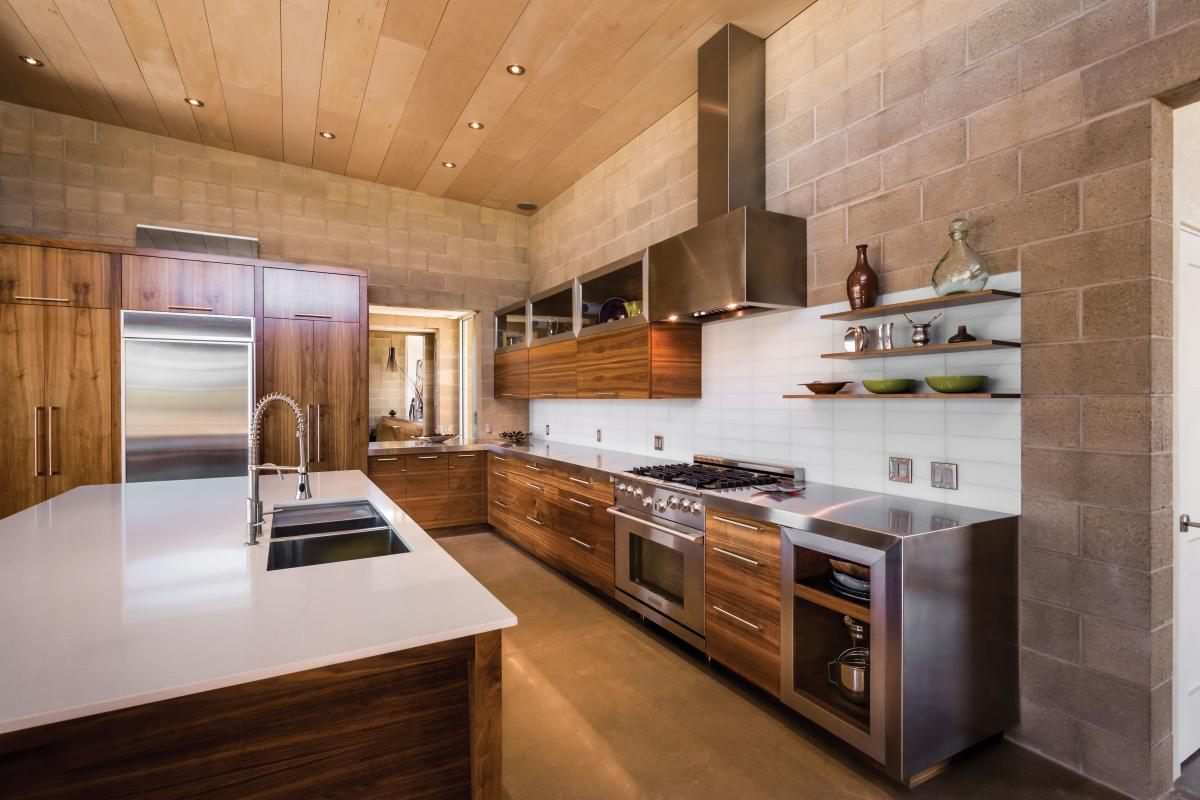The kitchen of Brian andCarrie Freeman's Corrales home