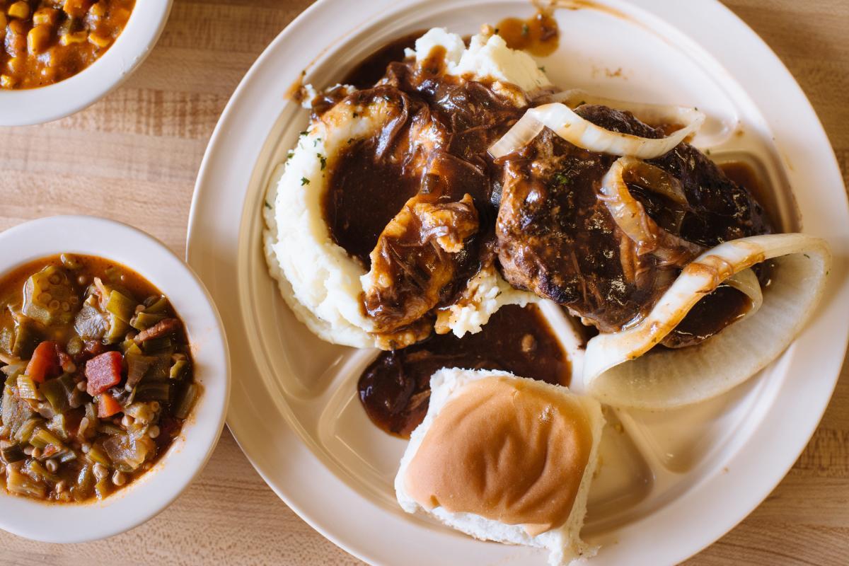 Landry's Cafe Hamburger Steak with Gravy