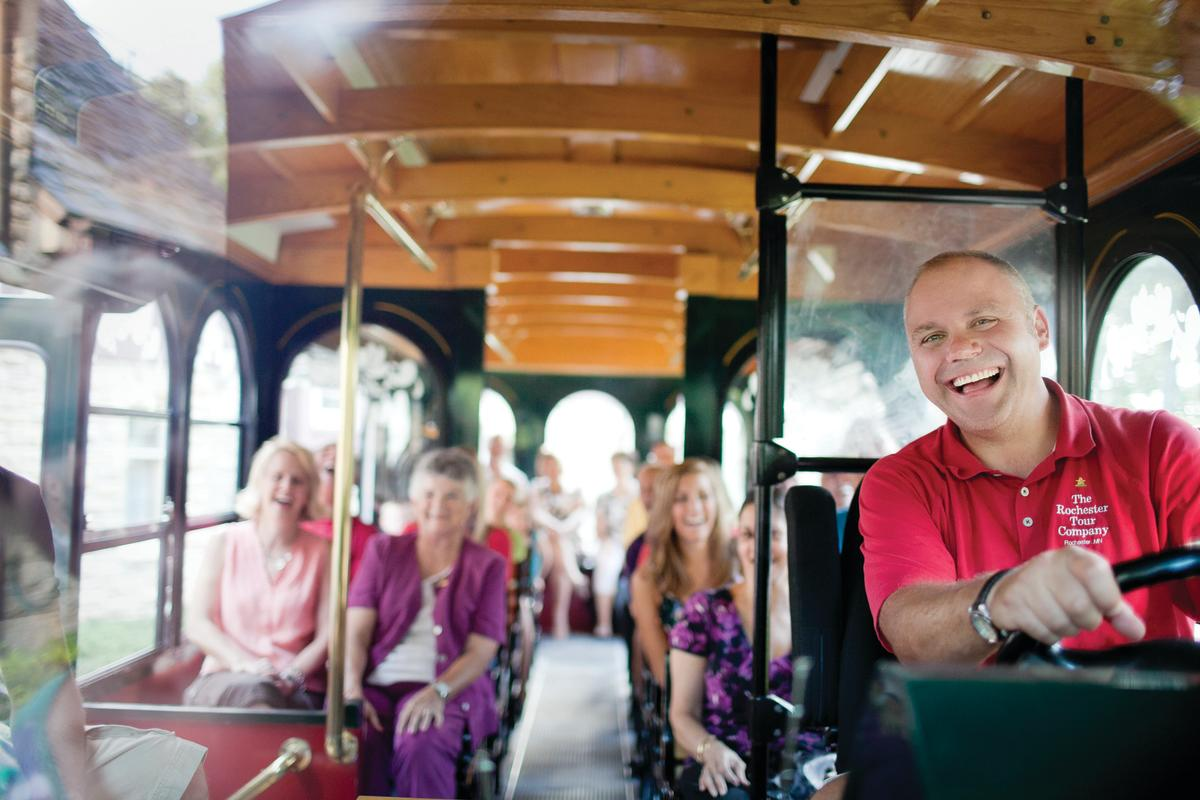 Hop on a trolley tour in Rochester, MN!