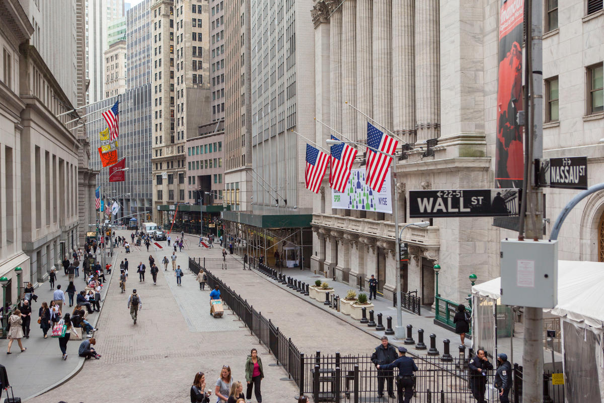 Wall Street. Photo by Tagger Yancey IV.