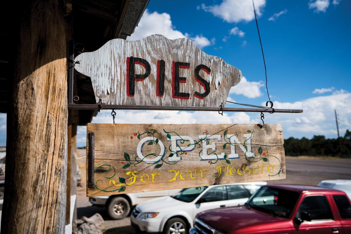 Pie Town cafes open spring to winter holidays