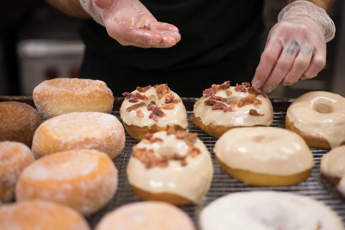 Bristol Doughnut Co.'s maple bacon doughnuts