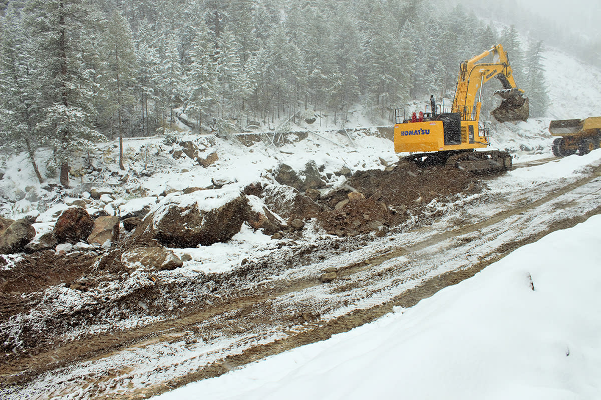 34 Construction in Snow
