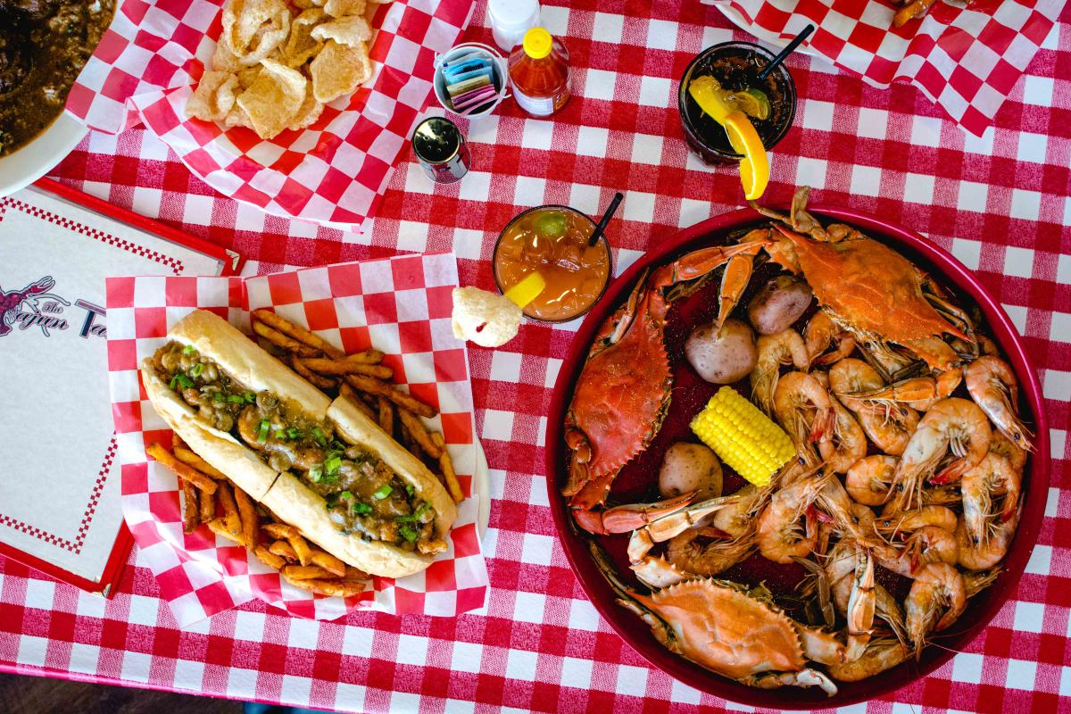 The Cajun Table Food Spread